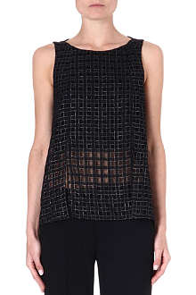 THEORY Banel sheer-detail top
