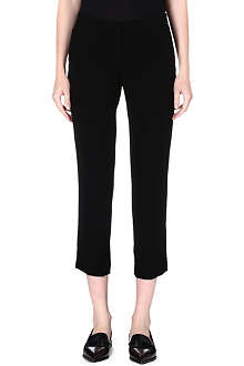 THEORY Kuril cropped crepe trousers