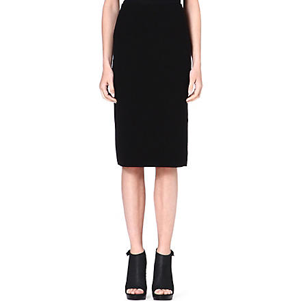 THEORY Crepe pencil skirt (Black