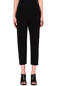 THEORY Kleon cropped jersey trousers