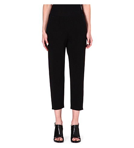 THEORY Kleon cropped jersey trousers (Black