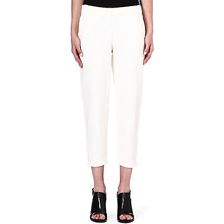 THEORY Kleon cropped jersey trousers (Ivory