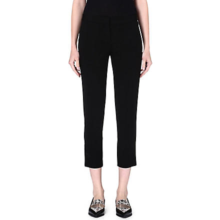 THEORY Sculer crepe trousers (Black