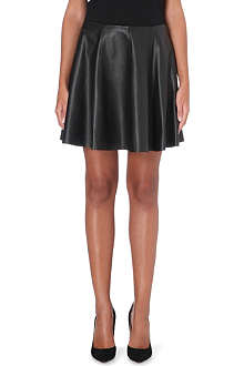 THEORY Merlock leather skater skirt