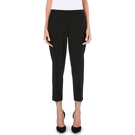THEORY Cropped Saville trousers (Black