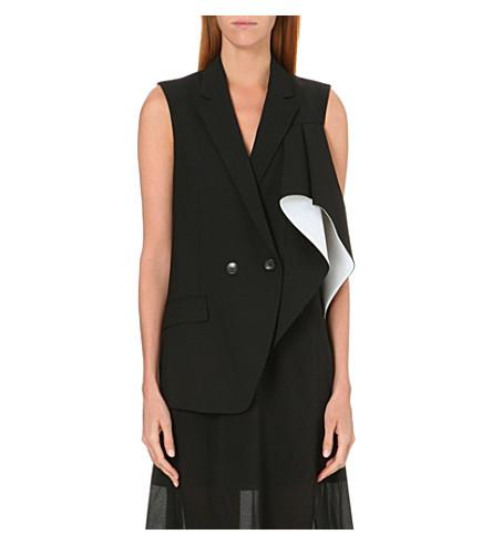 THEORY Monochrome waistcoat (Black/white