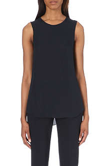 THEORY Bringam silk top