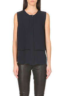 THEORY Gentaire double layer silk top