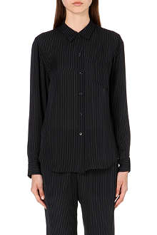 THEORY Silk pinstripe shirt