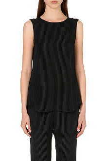 THEORY Bennia pinstripe top