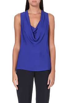 THEORY Laural silk-georgette top