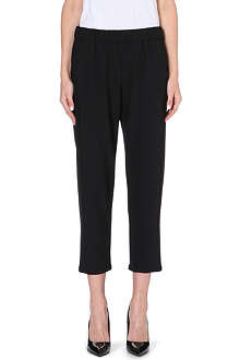 THEORY Korene stretch-jersey trousers