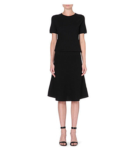 THEORY Pheebry wool-blend dress (Black