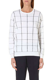 THEORY Grid print jumper