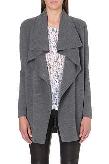 THEORY Trincy knitted waterfall cardigan