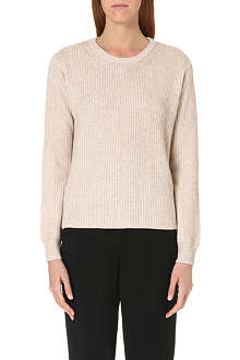 THEORY Knitted cashmere-blend jumper