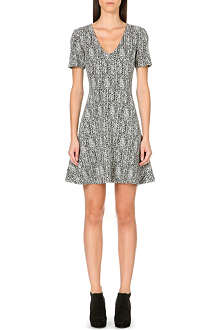 THEORY Nikay V-neck printed dress