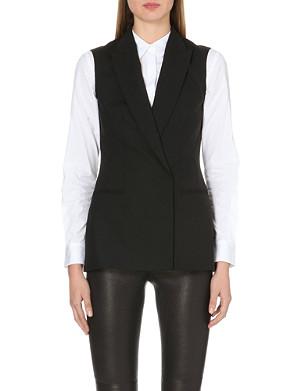 THEORY Annea Betoken wool-blend waistcoat