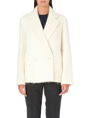 THEORY Chantelle mohair and wool-blend coat