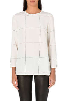 THEORY Kuna long-sleeved silk top