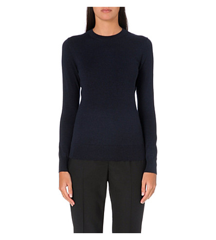 THEORY Perfect Staple stretch-cashmere jumper (Navy