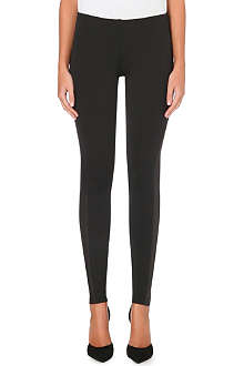 THEORY Azray leather panel leggings