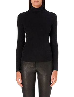 THEORY Stretch-knit turtleneck jumper