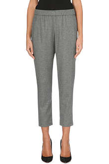 THEORY Korene cropped flannel trousers