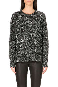 THEORY Chunky knit speckled jumper