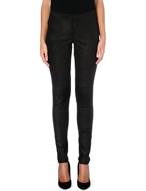 THEORY Pittella lsintra leather trousers