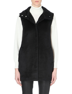 THEORY Visterna faux-fur gilet