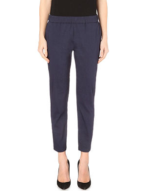 THEORY Korene linen-blend trousers