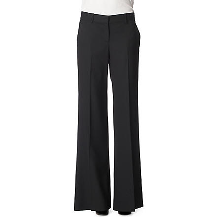 THEORY Flared trousers (Black