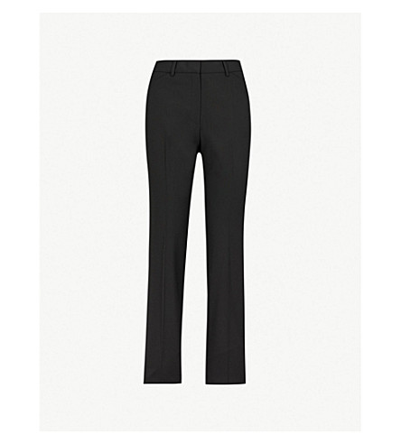 THEORY Max straight-leg stretch-wool pants (Black