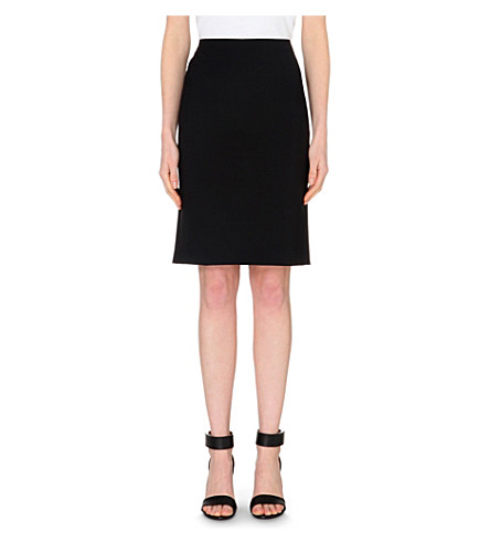 THEORY Stretch-wool pencil skirt (Black