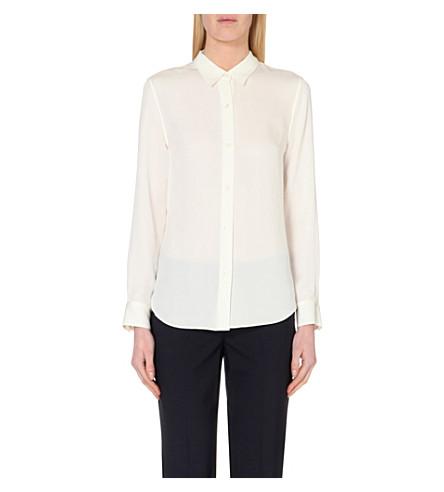 THEORY Tenia silk shirt (Ivory