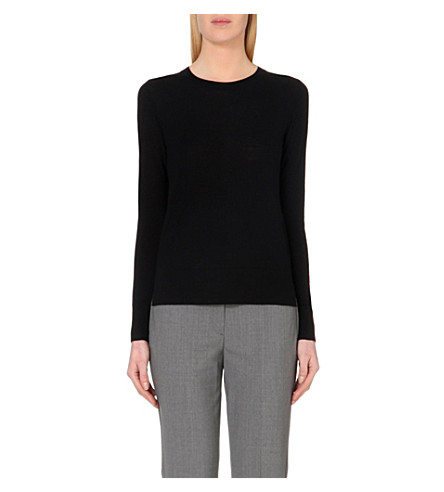THEORY Kralla wool jumper (Black