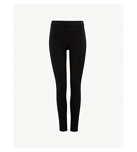 THEORY Shawn stretch-jersey leggings (Black