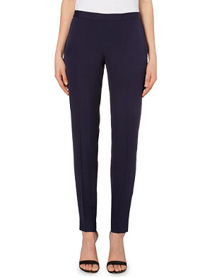 THEORY Tapered silk trousers