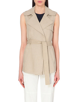 THEORY Sleeveless linen jacket