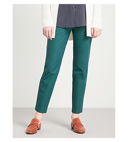 THEORY Thaniel stretch-cotton trousers (Bright+hunter