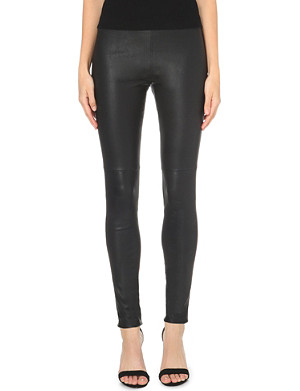 THEORY Axiom slim-fit leather trousers