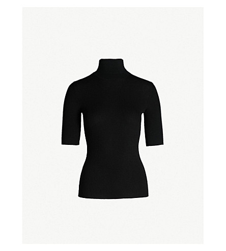 THEORY Lennda turtleneck merino wool top (Black
