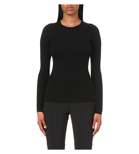 THEORY Mirzi merino wool jumper (Black