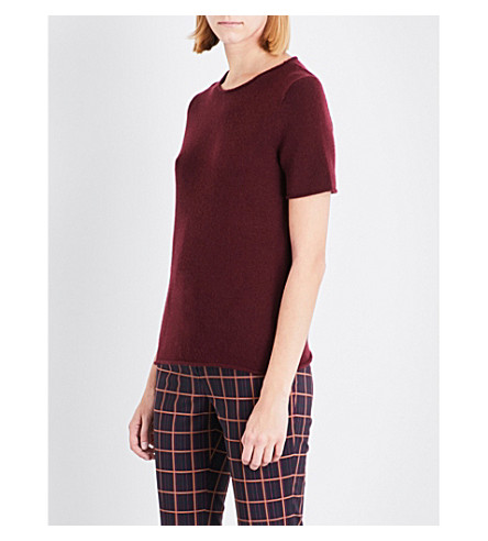 THEORY Tolleree cashmere jumper (Dark+currant