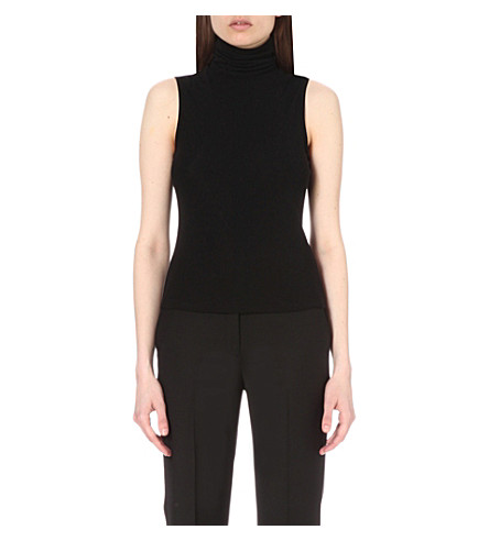 THEORY Wendel jersey top (Black