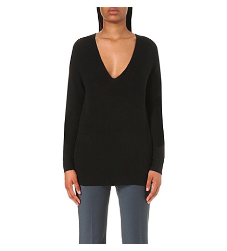 THEORY Adrianna v-neck cashmere jumper (Black