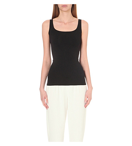 THEORY Len Tubular jersey top (Black