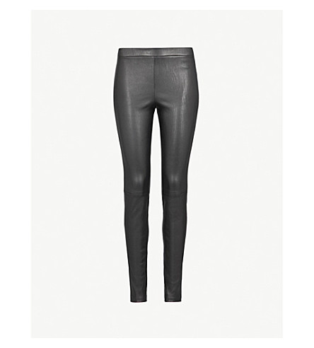 THEORY Adbelle skinny leather trousers (Black