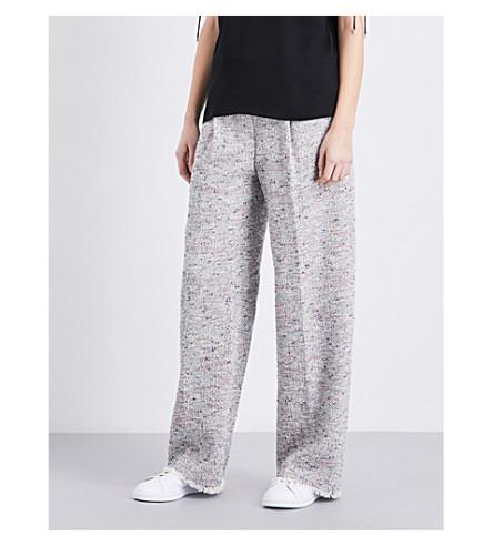 THEORY Asamaris wide-leg tweed trousers (Multi tweed